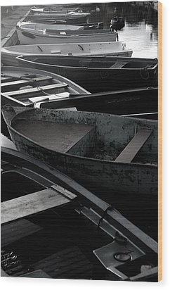 Staggered Boats Wood Print by Jez C Self