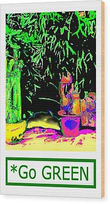 Staghorn Fern Go Green Jgibney The Museum Fineartamerica Gifts Wood Print by jGibney The MUSEUM Artist Series jGibney