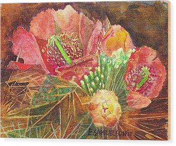 Staghorn In Bloom Wood Print