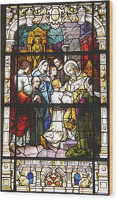 Stained Glass 1 Wood Print