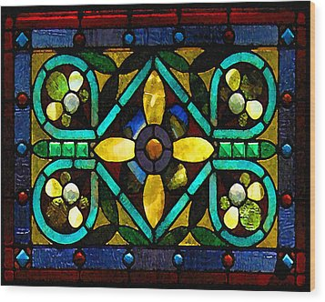 Stained Glass 1 Wood Print by Timothy Bulone