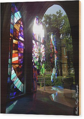Stained Glass #4720 Wood Print