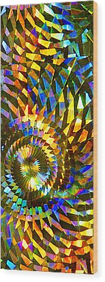 Stained Glass Fantasy 1 Wood Print by Francesa Miller