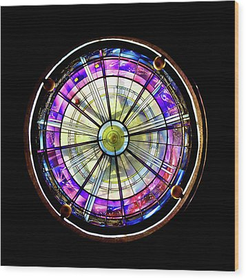 Stained Glass Wood Print by John Hix