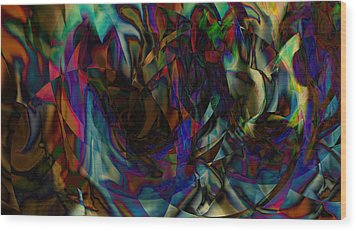 Stained Glass Wood Print by Joshua Sunday