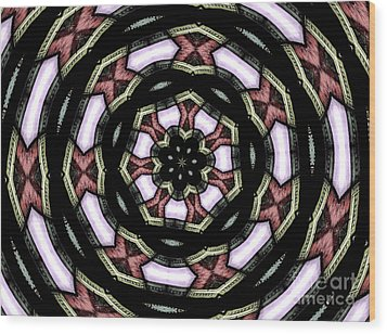 Wood Print featuring the photograph Stained Glass Kaleidoscope 12 by Rose Santuci-Sofranko