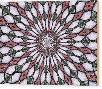 Wood Print featuring the photograph Stained Glass Kaleidoscope 2 by Rose Santuci-Sofranko