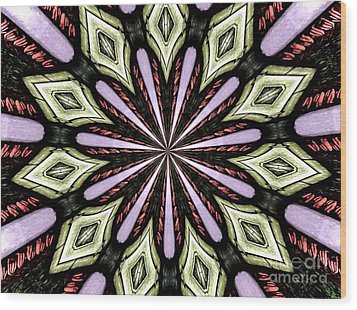Wood Print featuring the photograph Stained Glass Kaleidoscope 25 by Rose Santuci-Sofranko