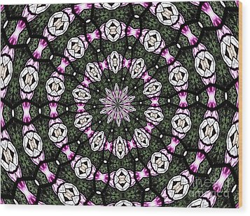 Wood Print featuring the photograph Stained Glass Kaleidoscope 3 by Rose Santuci-Sofranko