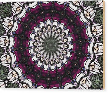 Wood Print featuring the photograph Stained Glass Kaleidoscope 4 by Rose Santuci-Sofranko