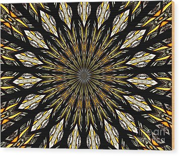 Wood Print featuring the photograph Stained Glass Kaleidoscope 5 by Rose Santuci-Sofranko
