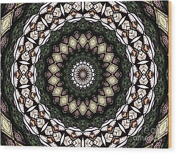 Wood Print featuring the photograph Stained Glass Kaleidoscope 6 by Rose Santuci-Sofranko