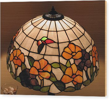 Stained-glass Lampshade Wood Print by Suhas Tavkar