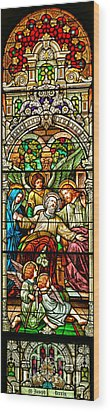 Wood Print featuring the photograph Stained Glass Scene 1 by Adam Jewell