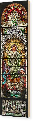 Wood Print featuring the photograph Stained Glass Scene 10 by Adam Jewell