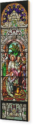 Wood Print featuring the photograph Stained Glass Scene 11 by Adam Jewell