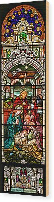 Wood Print featuring the photograph Stained Glass Scene 4 by Adam Jewell