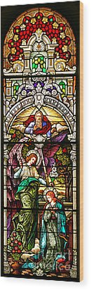 Wood Print featuring the photograph Stained Glass Scene 5 by Adam Jewell
