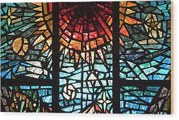 Wood Print featuring the photograph Stained Glass Sun by Michael Flood