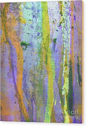 Stains Of Paint Wood Print by Carlos Caetano