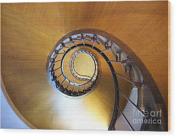 Staircase At Azay Le Rideau Wood Print