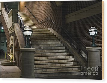 Staircase On The Blvd. Wood Print