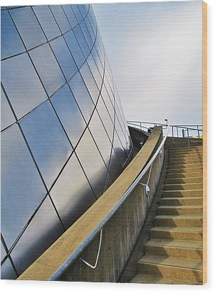 Staircase To Sky Wood Print by Martin Cline
