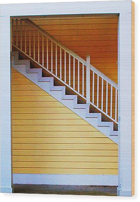 Stairs Wood Print by Farol Tomson