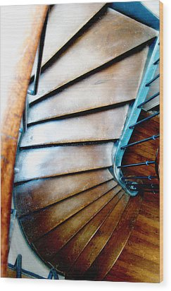 Stairs Paris Wood Print by Keith Campagna