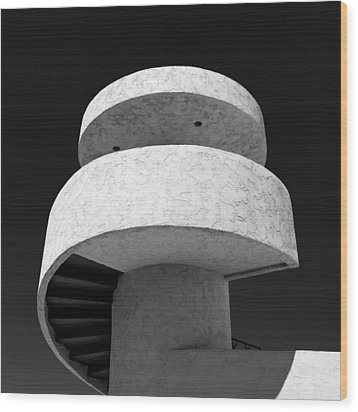 Stairs To Nowhere Wood Print