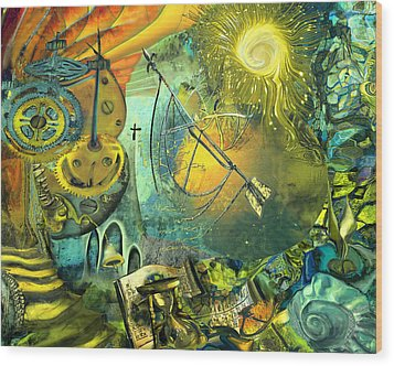 Stairway To Heaven Wood Print by Anne Weirich
