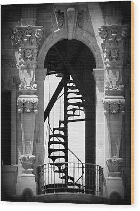 Stairway To Heaven Bw Wood Print