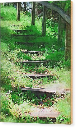 Wood Print featuring the photograph Stairway To Heaven by Donna Bentley