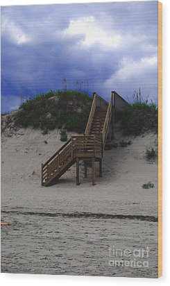 Stairway To Reality Wood Print by Linda Mesibov