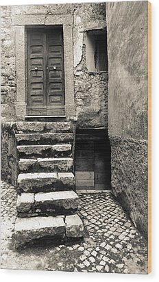Stairway To The Past Wood Print