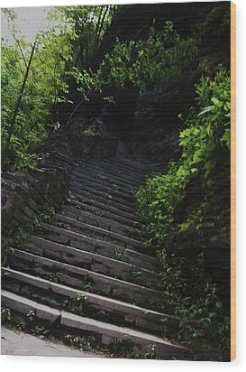 Stairway To Watkins 2 Wood Print by InTheSane DotCom