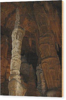 Stalacmites In Luray Caverns Va  Wood Print by Ausra Huntington nee Paulauskaite