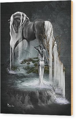 Stallion Falls Wood Print