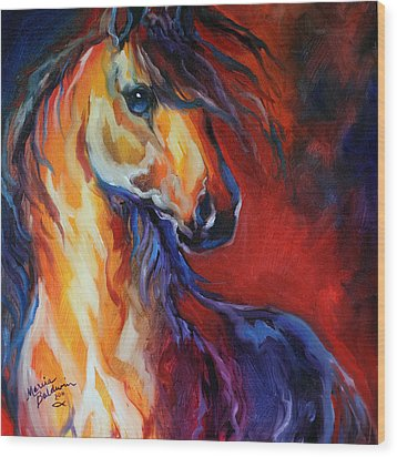 Stallion Red Dawn Wood Print by Marcia Baldwin
