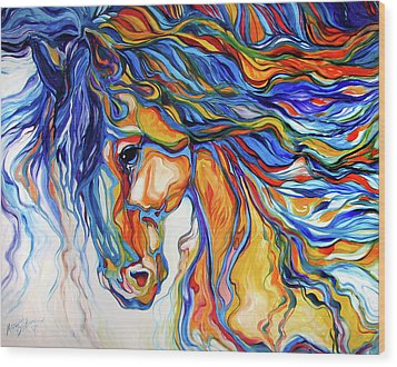 Stallion Southwest By M Baldwin Wood Print by Marcia Baldwin