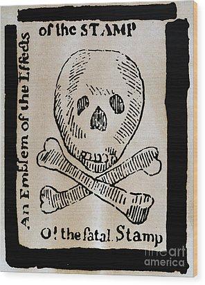 Stamp Act: Cartoon, 1765 Wood Print by Granger