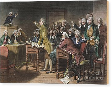 Stamp Act: Patrick Henry Wood Print by Granger