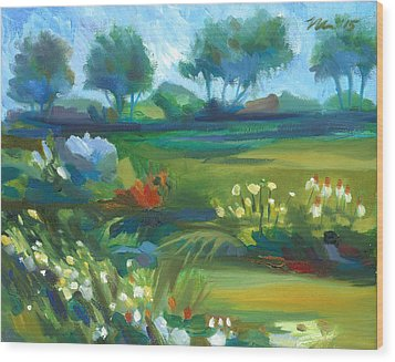 Stan Hywet Garden Wood Print