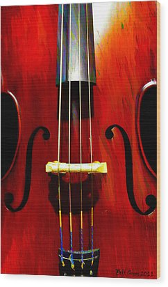 Stand Up Bass Wood Print by Bill Cannon