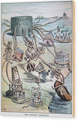 Standard Oil Cartoon Wood Print by Granger