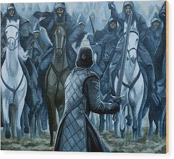Wood Print featuring the painting Standing Brave by Al  Molina