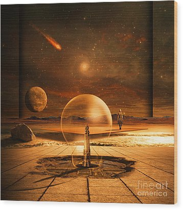 Wood Print featuring the digital art Standing In Time by Franziskus Pfleghart