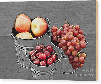 Wood Print featuring the photograph Standing Out As Fruit by Sherry Hallemeier