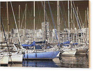 Standing Out In Marseille Wood Print by John Rizzuto