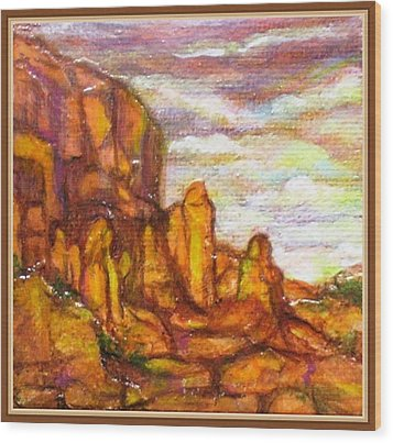 Standing Stones Landscape Wood Print by Jan Wendt